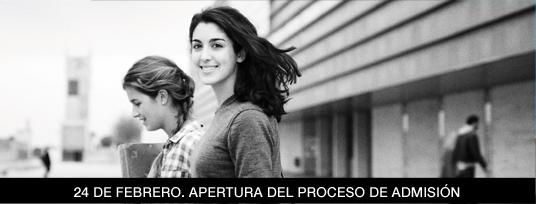 Apertura proceso Admisión 2014-2015